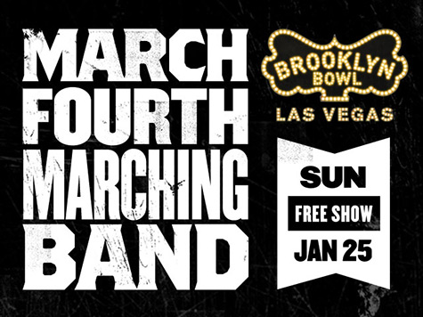 March Fourth Marching Band in Las Vegas